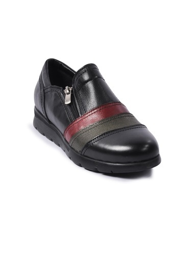 Ayakmod 230 Siyah-Bordo-Yeşil Kadın Günlük Ayakkabı Siyah
